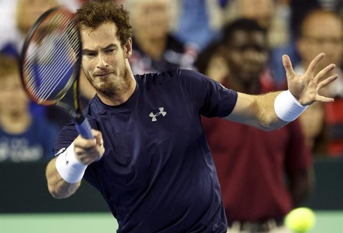 Andy Murray pela Grã-Bretanha na Copa Davis (Foto: Agência EFE)