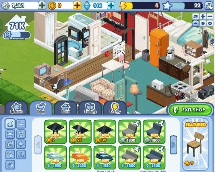 The Sims Social: Menos recursos, mais interacão (Foto:Reprodução)