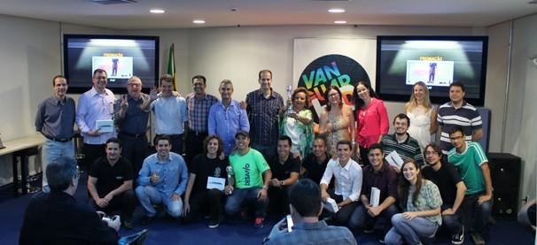 Equipe da TV Vanguarda que participou do Desafio Vanguarda (Foto: Fabiano Pereira/ Vanguarda)