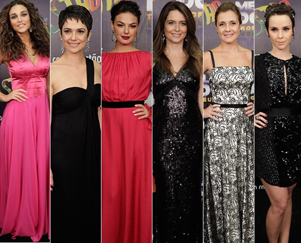 Looks das estrelas indicadas ao Melhores do Ano (Foto: Domingão do Faustão / TV Globo)