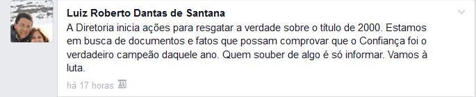 Luiz Roberto (Foto: Reprodução/Facebook)