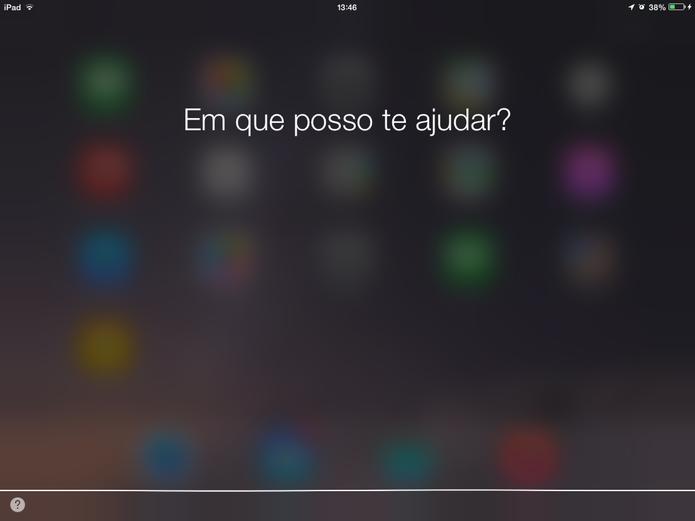 Siri foi liberada em Português para o Brasil após quatro anos do seu lançamento (Foto: Reprodução/Elson de Souza)
