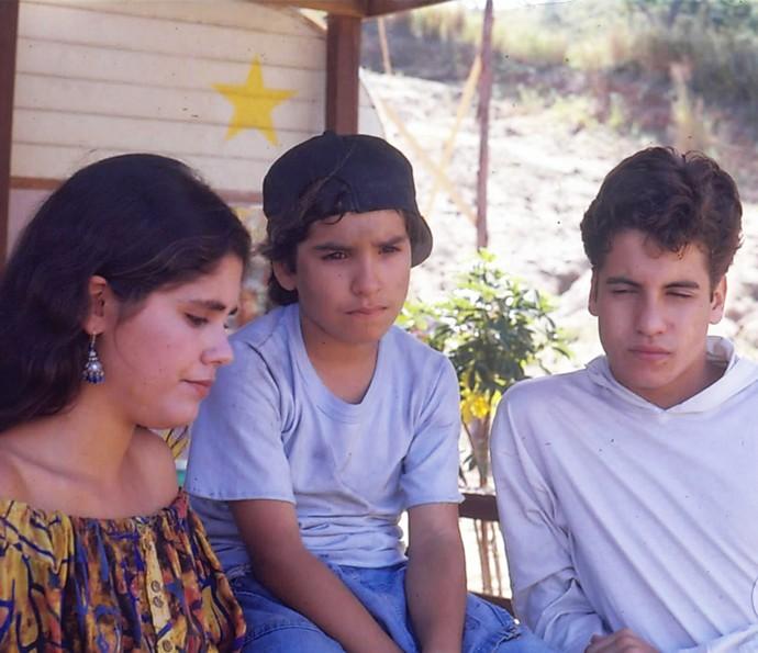 Juliana Martins, Igor Lage e Pedro Vasconcelos nos bastidores de 'Vamp' (Foto: CEDOC / TV Globo)