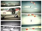 Enzo Celulari salta de paraquedas