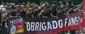 Seleção alemã agradece apoio da torcida com faixa em português (Reprodução)