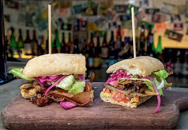 O sanduíche americano do Brewdog vai bacon aos montes (Foto: Divulgação)