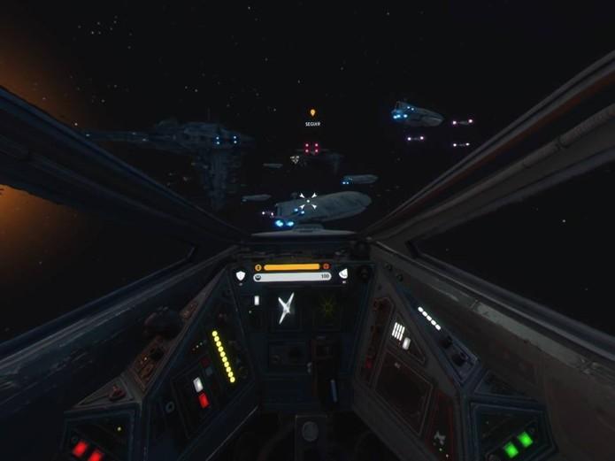 Rogue One VR tem uma missão de escolta (Foto: Reprodução/Felipe Vinha)