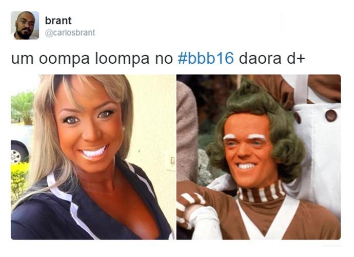 Maquiagem de Adélia também gerou memes nas redes sociais (Foto: Reprodução )