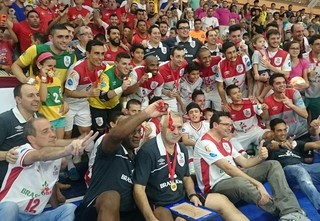 Sorocaba, campeão da Libertadores de futsal (Foto: Natália de Oliveira)