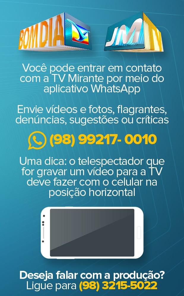 WhatsApp da TV Mirante (Foto: Arte: Maurício Araya / G1)