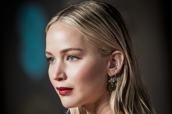 A atriz Jennifer Lawrence no Bafta 2018 (Foto: Getty Images)