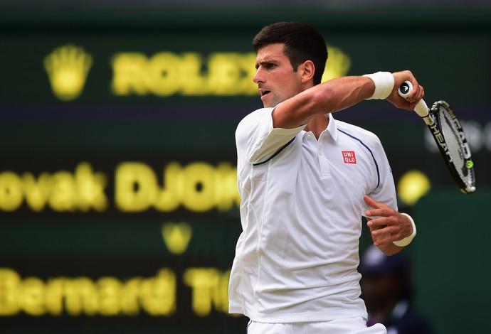 Novak Djokovic x Bernard Tomic, Wimbledon 2015 (Foto: Getty Images)