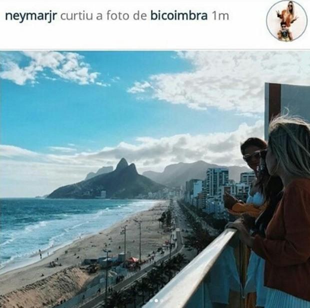 Neymar curte fotos com Bruna Marquezine (Foto: Reprodução/Instagram)