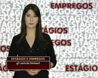 ALine Franco trás as vagas de estágios e empregos (Foto: Bom Dia Rio)