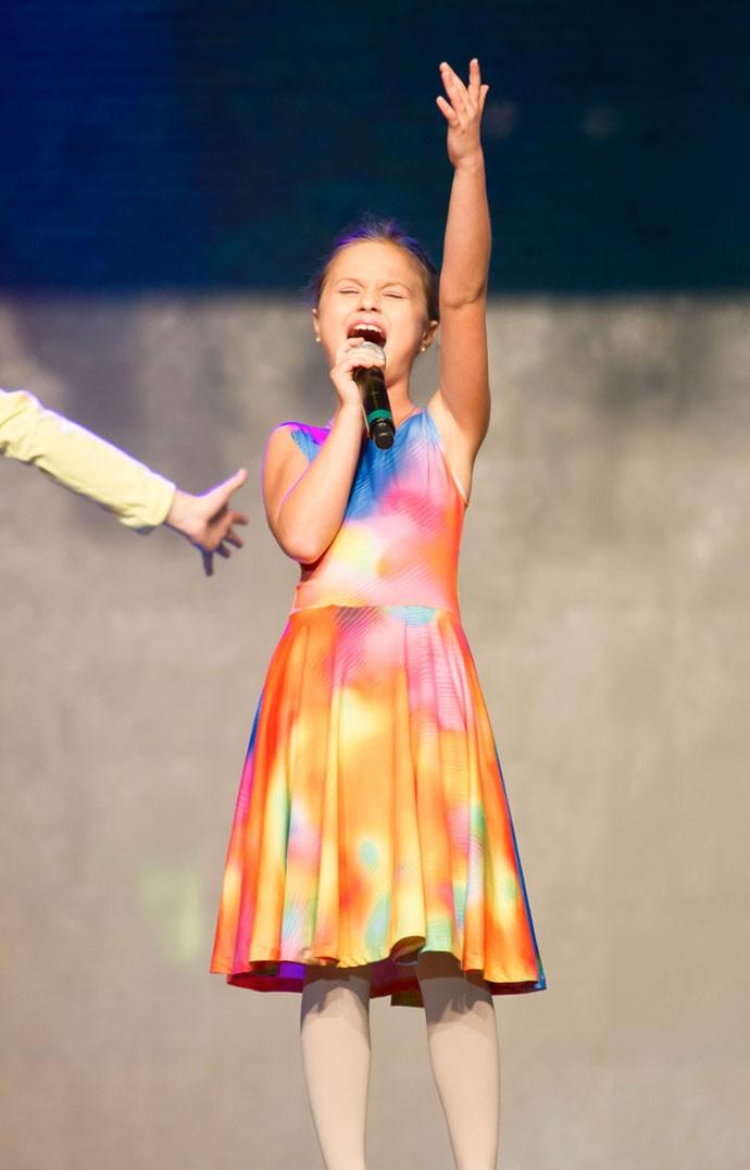 Aquarela foi uma das músicas que o público mais pediu para Rafa cantar durante o The Voice Kids (Foto: Eduardo Alexandre/CWB)