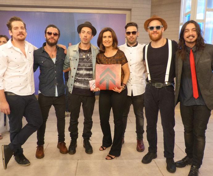 NX Zero foi a atração musical do programa (Foto: Viviane Figueiredo Neto/ Gshow)