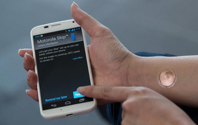 Tatuagem digital servirá para desbloquear Moto X (Foto: Divulgação/Motorola)