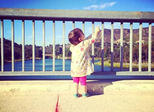 Wyatt, a primeira filha, nasceu em 2014 (Foto: Reprodução/Instagram)
