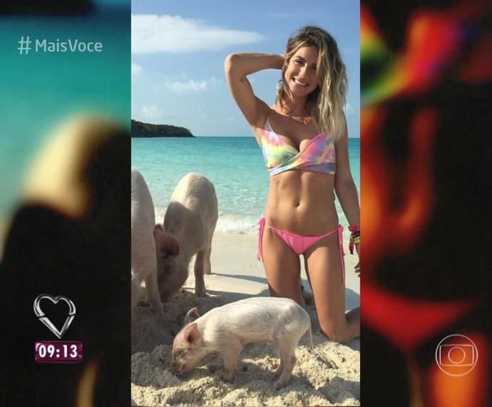 Giovanna usa biquíni de lacinho (Foto: TV Globo)