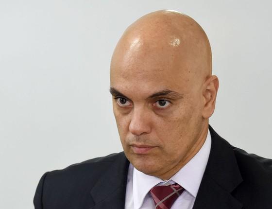 Alexandre de Moraes,Ministro da Justiça (Foto:  EVARISTO SA/AFP)
