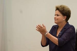 A presidente Dilma Rousseff em evento nesta quarta-feira (30) (Foto: Jose Cruz/Agência Brasil)
