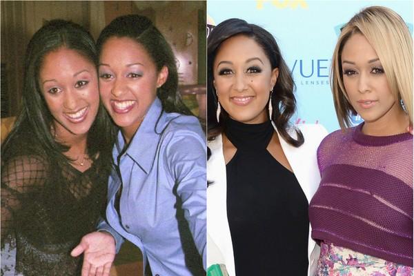As gêmeas Tia e Tamera Mowry começaram no seriado 'Irmã ao Quadrado' e fizeram muito sucesso como as bruxinhas do filme 'Twitches', em 2005. Hoje as duas já têm 36 anos (Foto: Getty Images)