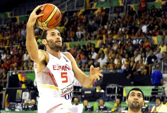 Rudy Fernandez jogo Espanha basquete Copa do Mundo (Foto: EFE)