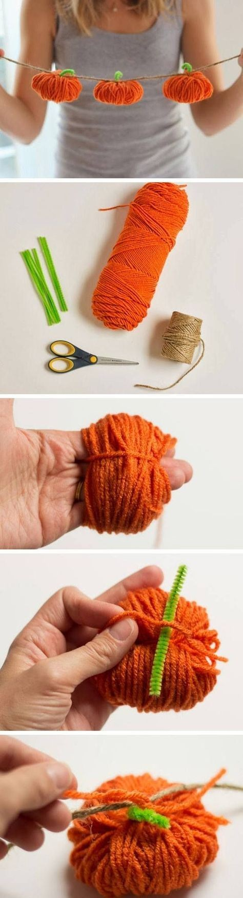 Varal de abóbora (Foto: Reprodução/Pinterest)