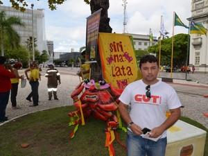 Plínio Pugliesi , vice-presidente CUT Sergipe  (Foto: Tássio Andrade/G1)