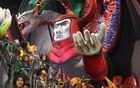 Dragões da Real canta sobre seu símbolo (Raul Zito/G1)