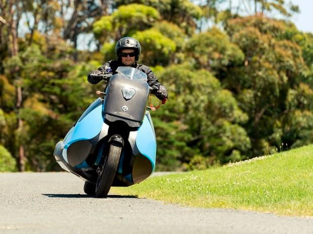 Moto Biski rodando no asfalto (Foto: Divulgação)