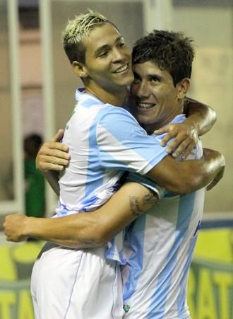 Giancarlo e Fernando Santos, macaé x cabofriense (Foto: Tiago Ferreira / Macaé Esporte)