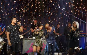 Ludmilla, Harmonia do Samba e Turma do Pagode fazem encontro de funk e pagode no Música Boa Ao Vivo