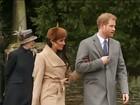 Noiva do Príncipe Harry participa de missa de Natal no Reino Unido
