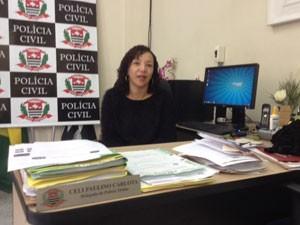 Celi Paulino, delegada da Delegacia de Defesa da Mulher (Foto: Lívia Machado/G1)