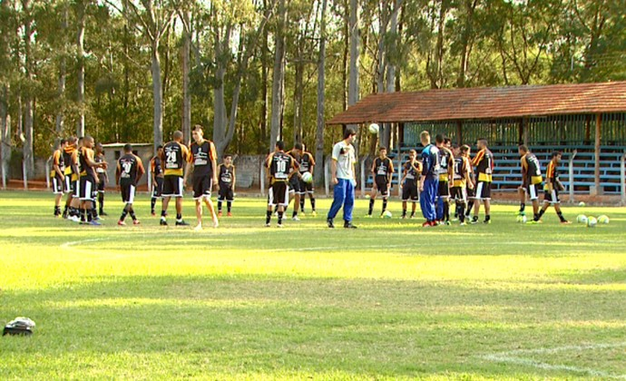 Rio Branco-SP Tigre Americana treino (Foto: Márcio de Campos / EPTV)