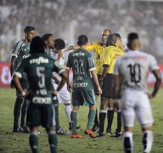 Santos x Palmeiras mudança árbitro (Foto: Marcos Ribolli)
