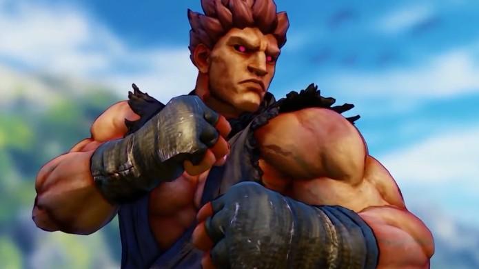 Sem seus golpes tradicionais, Akuma em Street Fighter 5 fica mais parecido com Evil Ryu (Foto: Reprodução/YouTube)