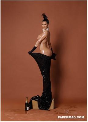 Kim Kardashian em ensaio para a edição de inverno da 'Paper' (Foto: Paper/ Reprodução)
