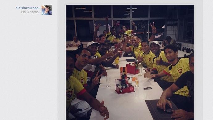 Aloísio Chulapa comemora classificação do Sport-AL (Foto: Reprodução/Instagram)