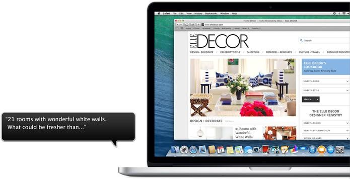 VoiceOver é o leitor de tela dos sistemas da Apple (Foto: Divulgação/Apple)