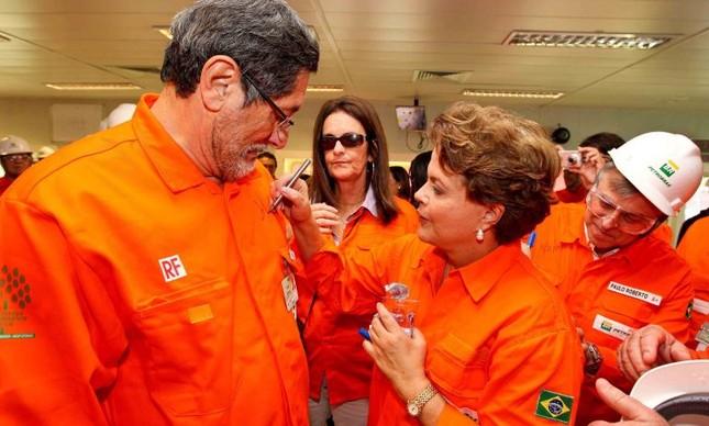 Dilma Rousseff, José Sérgio Gabrielli, Graça Foster e Paulo Roberto Costa (Foto: Divulgação)