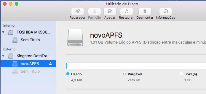 Descubra como formatar uma unidade com APFS no MacOS Sierra (Foto: Reprodução/Edivaldo Brito)