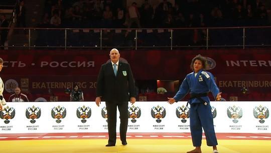 Sarah perde no golden score por falso ataque e fica incrédula no GS da Rússia
