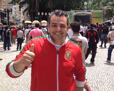 Luis Filipe Silva Nunes português sorteio da Copa do Mundo Curitiba (Foto: Gabriel Hamilko)