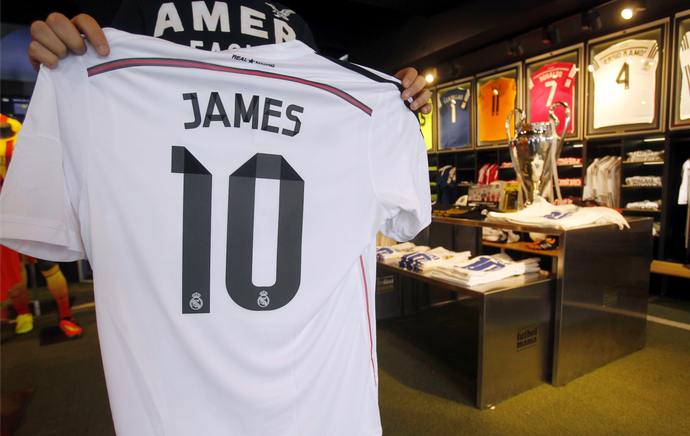 James Rodríguez camisa Real Madrid (Foto: EFE)