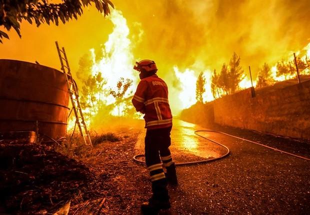 Incêndio em Portugal que já causou 62 mortes (Foto: EFE)