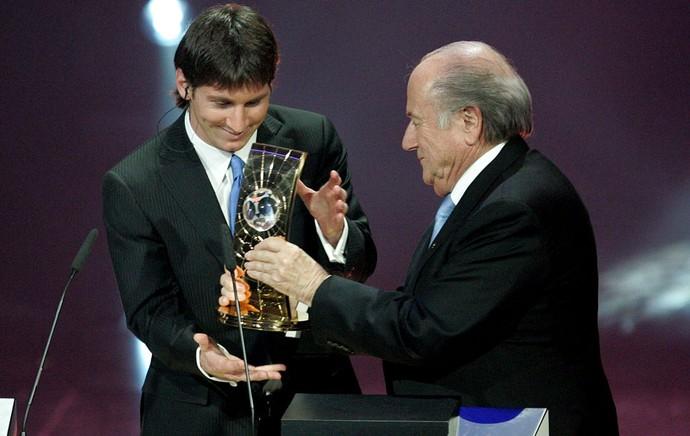 Lionel Messi prêmio 2009 (Foto: Agência Getty Images)