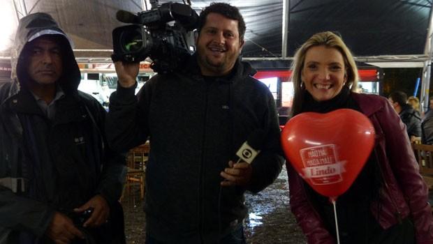 Equipe do Paraná TV 2ª Edição marcou presença no evento (Foto: Divulgação/RPC)