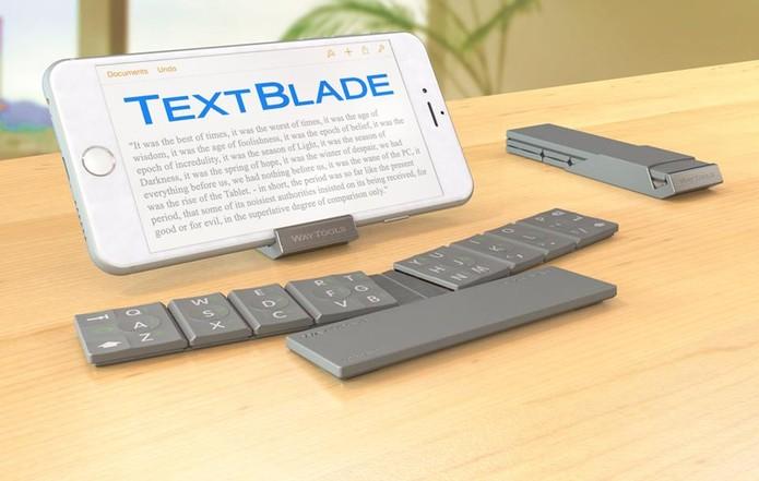 TextBlade funciona com smartphones e tablets Android e iOS e é ultraportátil (Foto: Divulgação/Way Tools)